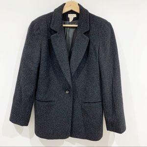 J. Crew wool cashmere oversized blazer jacket coat